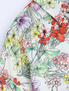 o Tama Manga Dolman De Blusa Gran M Floral Floral FZCqZv