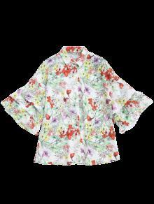 o Dolman Tama M De Manga Gran Blusa Floral Floral YYPvB