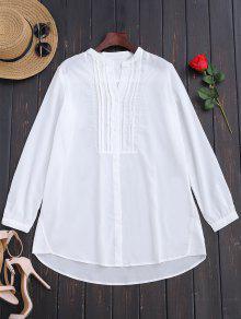 Chemise Demi-boutonnée à Palais - Blanc S