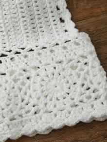 85fdaf6ecb9c9 17% OFF  2019 Crochet Midi Bikini Crop Top In WHITE