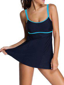 Bodysuit Cami Swimwear - Purplish Blue 3xl