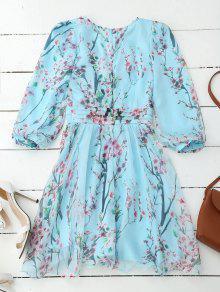 Floral Floral Ros Dress Surplice Flowy Surplice UUxRnr
