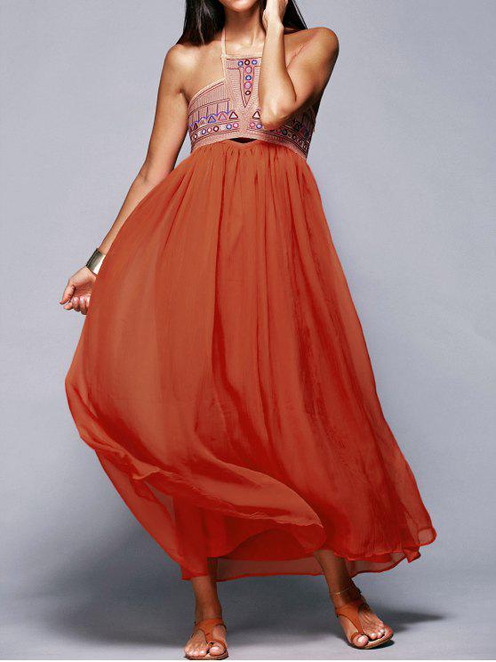 latest Halter Neck Flowing Dress - JACINTH S
