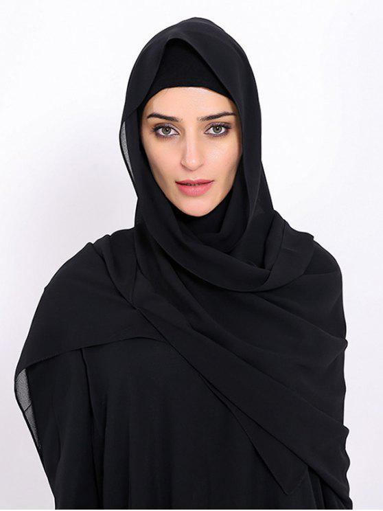 new Islamic Muslim Chiffon Gossamer Hijab Headscarf - BLACK
