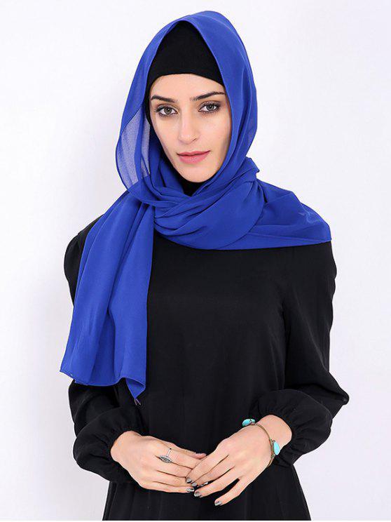 be4812a85f 19% OFF] 2019 Foulard Islamique Hijab En Mousseline Dans Bleu ...