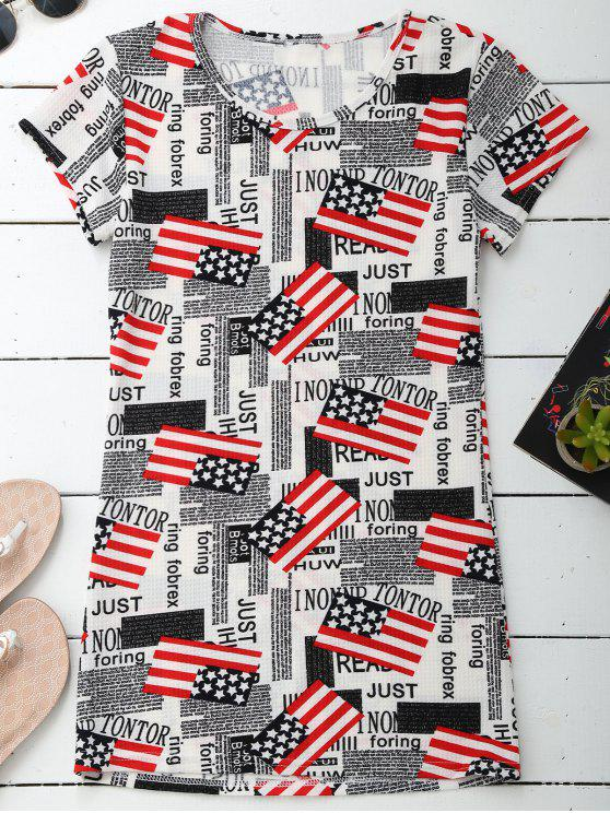 Camiseta patriótica gráfica de la camiseta - Colormix 2XL
