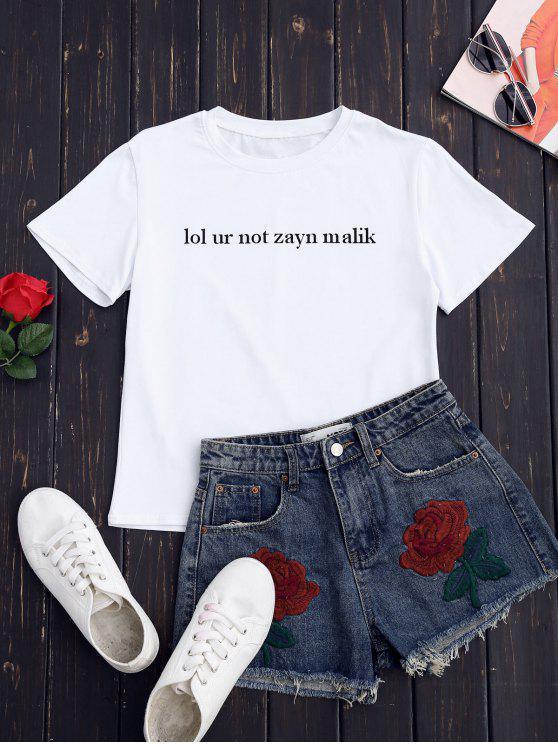 T-shirt gráfico formal - Branco S