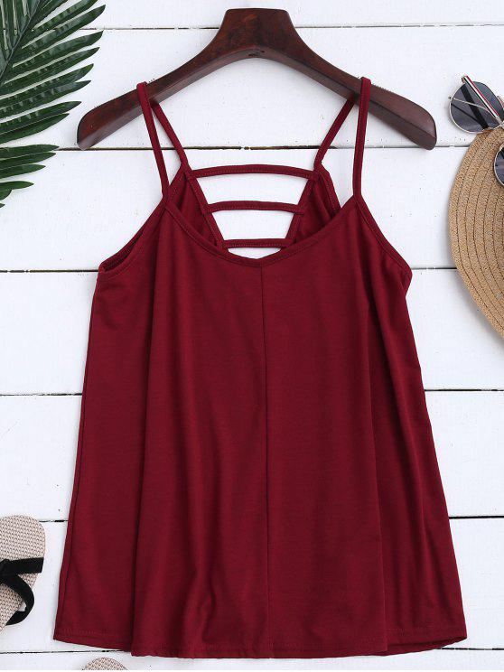 Ladder Cutout Trapeze Cami Top - Rojo ladrillo M