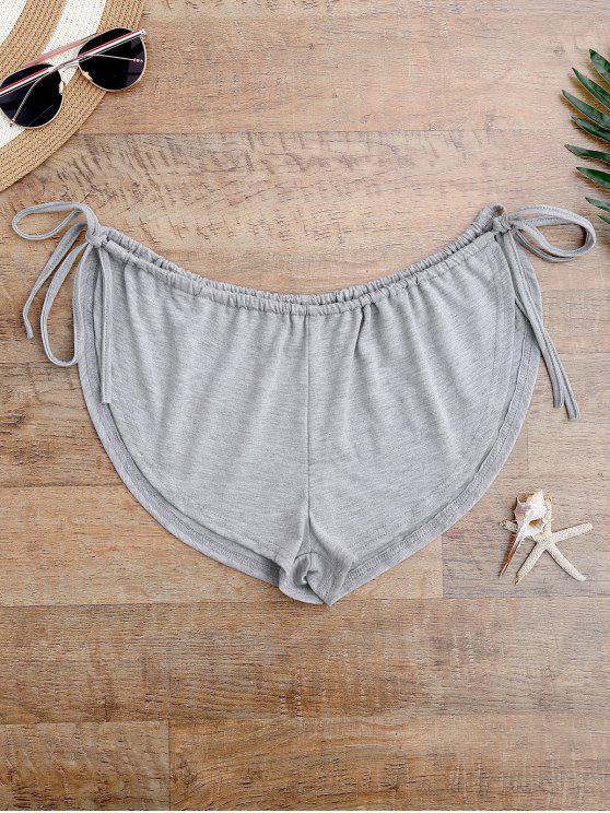 Shorts Saída de Praia Aberto nas Laterais - Cinza Tamanho único