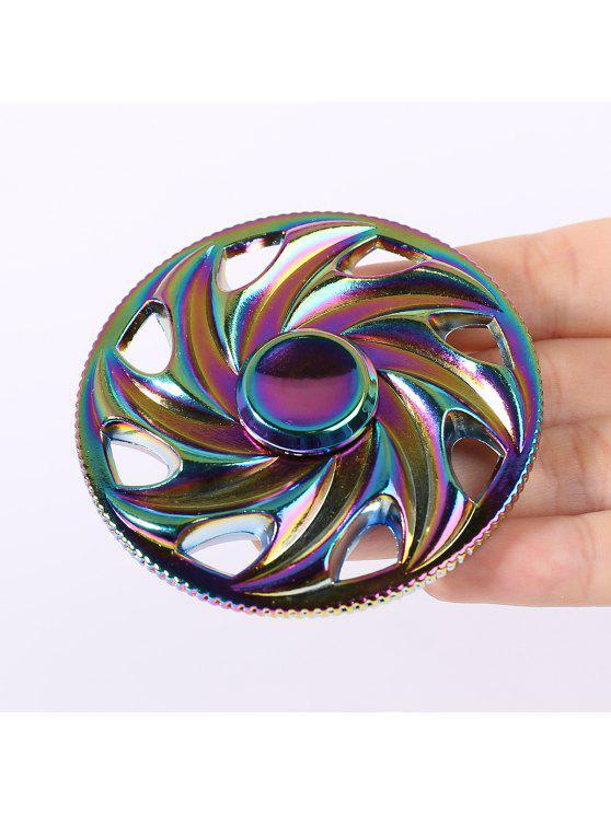 الملونة عجلة على شكل إصبع الدوران لعبة الغزل - ملون 6.5 * 6.5CM