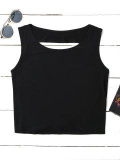 Crossover Backless Tank Top - Black L