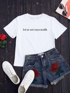 Preppy Graphic T-Shirt - White S