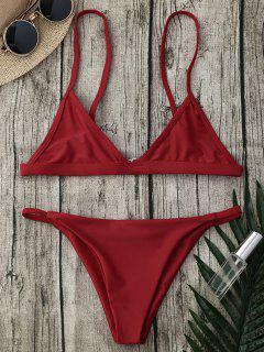 Traje De Bikini Del Tango De La Correa De Espagueti - Rojo S