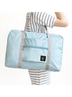Waterproof Foldable Nylon Carryall Bag - Light Blue