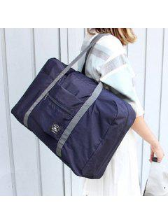 Waterproof Foldable Nylon Carryall Bag - Deep Blue