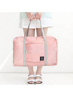 Waterproof Foldable Nylon Carryall Bag - Pink