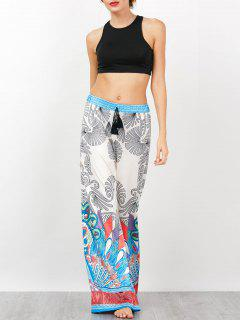 Sleeveless Crop Top With Bohemian Palazzo Pants - Multi M