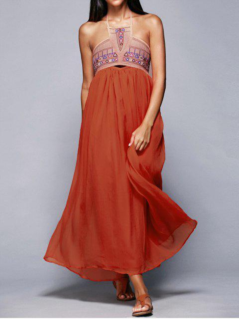 shops Halter Neck Flowing Dress - JACINTH M Mobile