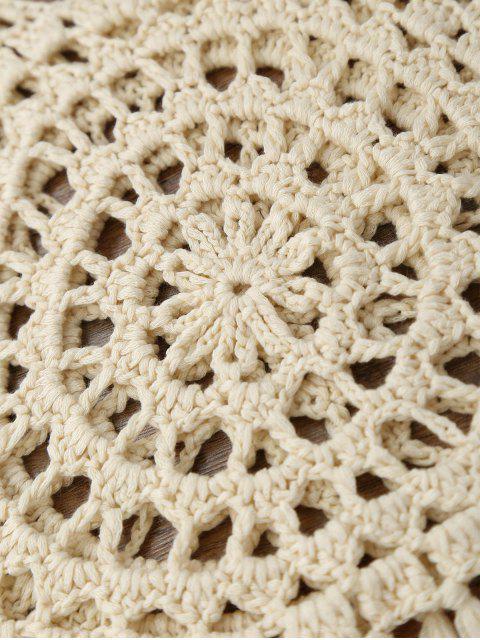 Tassels Crochet Cover Up Top - RAL1001Beige L Mobile