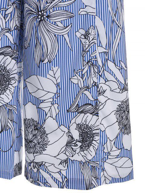 Pantalons larges à rayures florales - Multicolore L Mobile