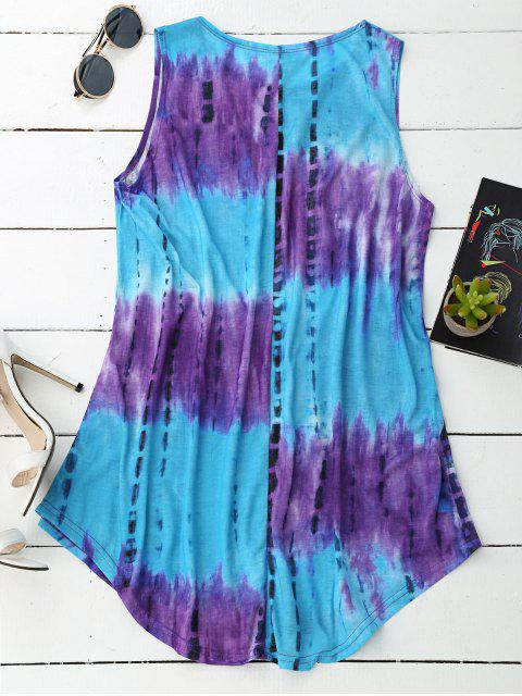 best Sleeveless Trapeze Tie-Dyed Dress - COLORMIX XL Mobile