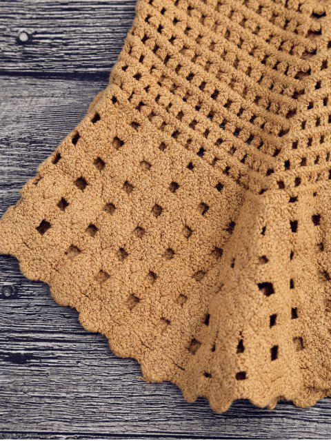 shop Laser Cut Crochet Tank Cover Up - EARTHY ONE SIZE Mobile