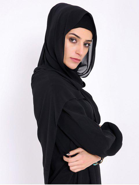 new Islamic Muslim Chiffon Gossamer Hijab Headscarf - BLACK  Mobile