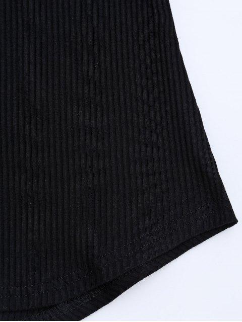 T-shirt brodé à la main - Noir M Mobile