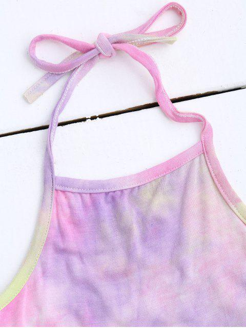 Halter Tie Dye Ombre Top - ROSE PÂLE TAILLE MOYENNE Mobile