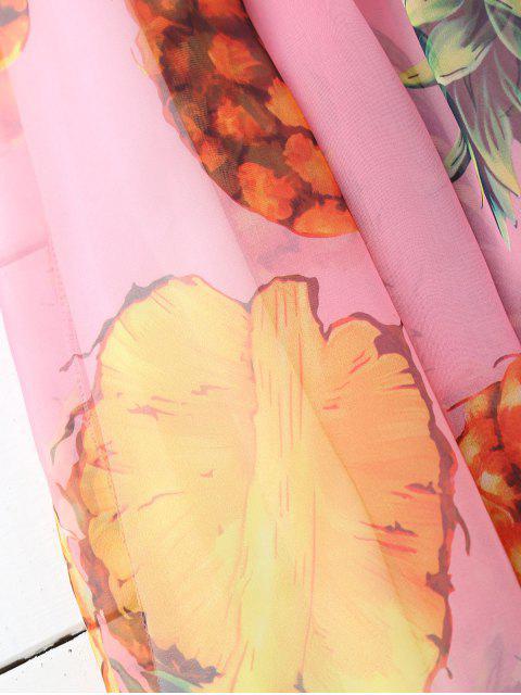 Jupe longueur moyenne imprimée ananas - Papaye TAILLE MOYENNE Mobile