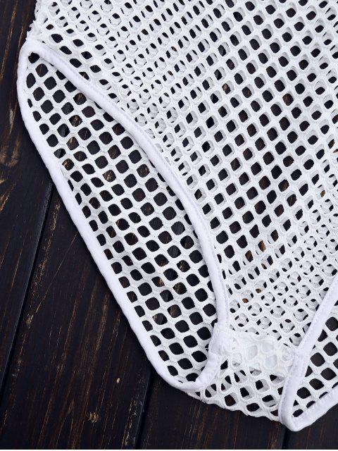 Combinaison de jambe haute à coupe laser - Blanc S Mobile
