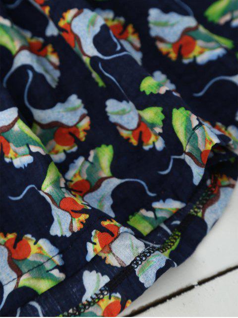 Top de blousons floraux - Bleu Cadette 2XL Mobile