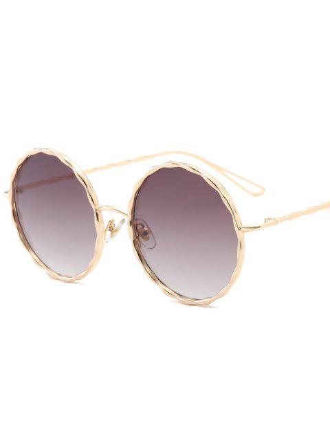 buy Wavy Metallic Frame Leg Ombre Round Sunglasses - TEA-COLORED  Mobile