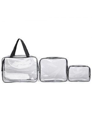 3 pedazos del bolso transparente de la toalla