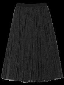 Midi Glitter Mesh Skirt BLACK: Skirts XL | ZAFUL