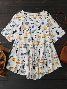 Cartoon Painting Smock Top - 2xl