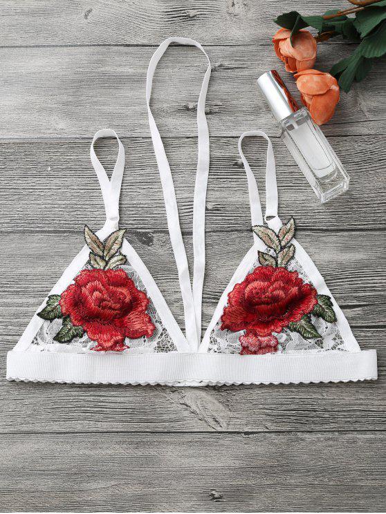 الأزهار زين تسخير ينغيرييس الصدرية - أبيض M