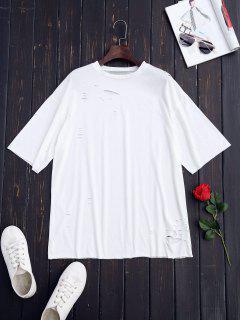 Camiseta Rasgada Del Cambio De Palangre - Blanco M
