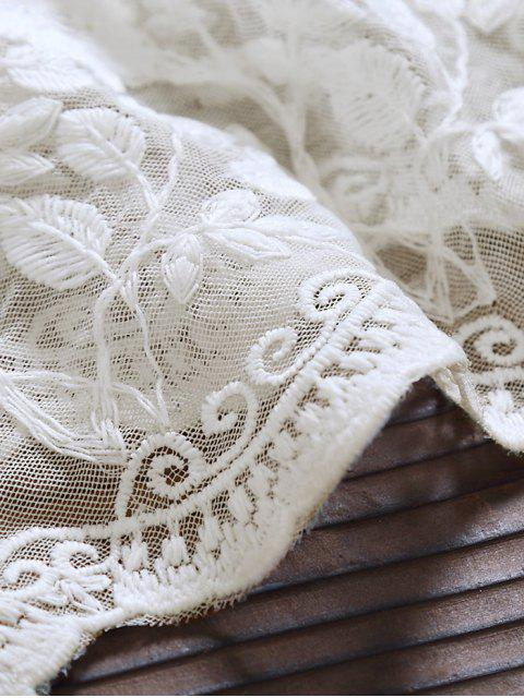 Robe mi-longue Tulle Lace Maxi - Blanc XL Mobile