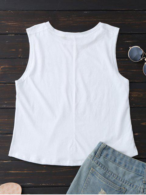 shops Cotton Letter Tank Top - WHITE L Mobile
