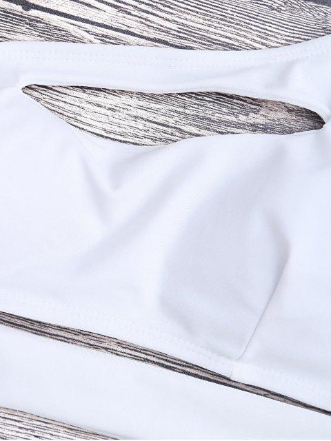 Bandage Maillot de Bain Monokini 1 Pièce Asymétrique - Blanc M Mobile