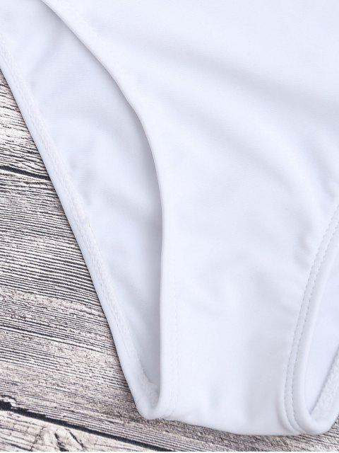 Bandage Maillot de Bain Monokini 1 Pièce Asymétrique - Blanc S Mobile