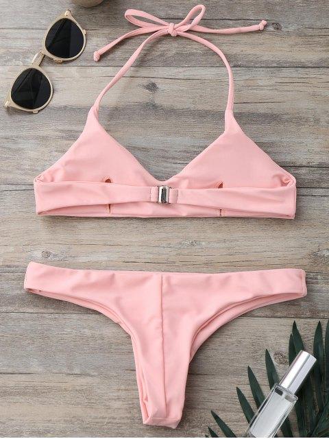Ensemble de Bikini paddé à bretelle - ROSE PÂLE S Mobile