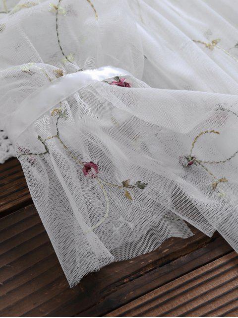 Robe en tulle à manches longues avec débardeur - Blanc S Mobile
