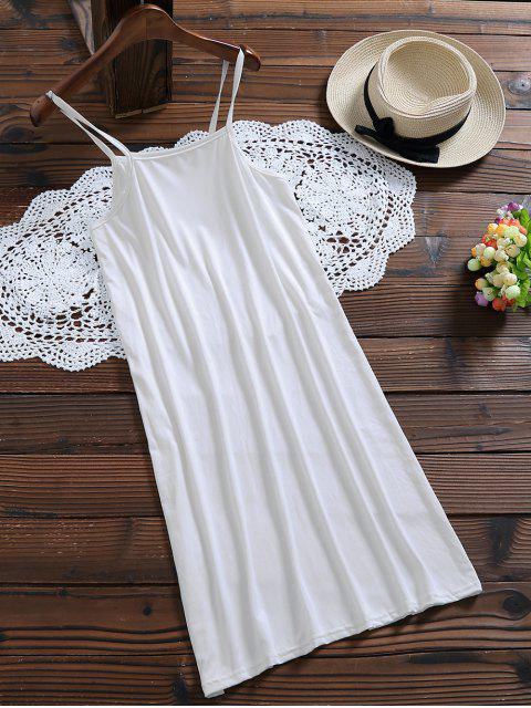 buy Long Sleeve Floral Tulle Dress With Tank Top - WHITE XL Mobile