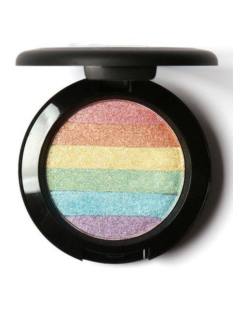 buy Soft Mineral Rainbow Palette Shimmer Highlighting Powder - COLORFUL  Mobile