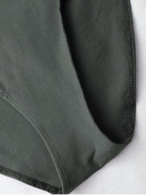 Combinaison à dos-nu à betelles de croisillons - Gris TAILLE MOYENNE Mobile