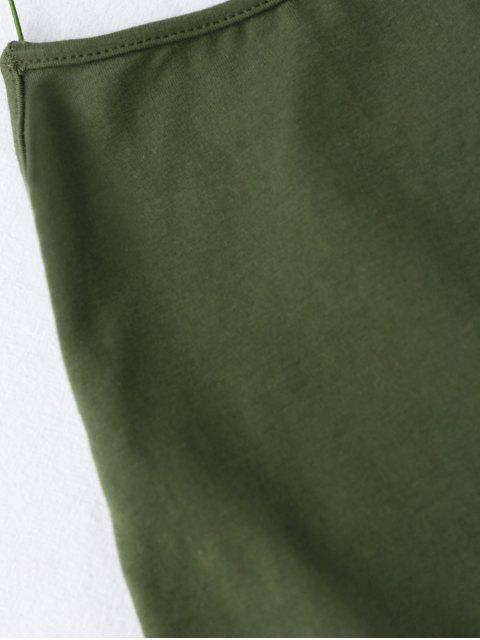 Combinaison à dos-nu à betelles de croisillons - Vert Armée TAILLE MOYENNE Mobile