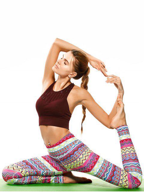 latest Skinny Tribal Print Sporty Leggings - COLORMIX M Mobile