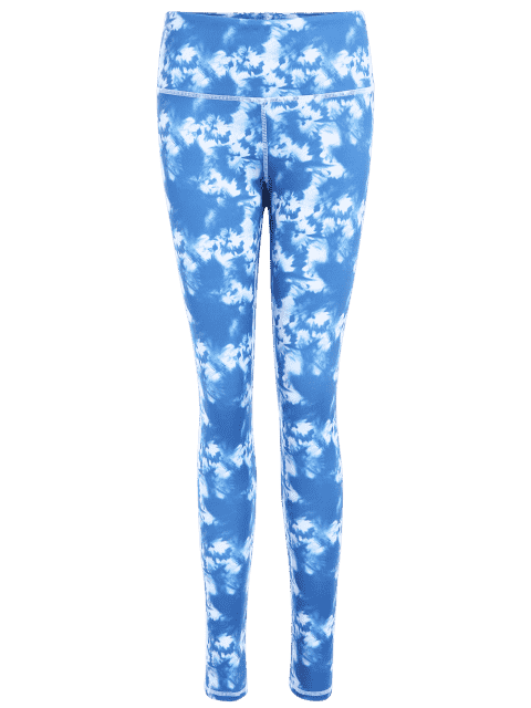 outfits Skinny Tie-Dyed Sporty Leggings - SKY BLUE M Mobile